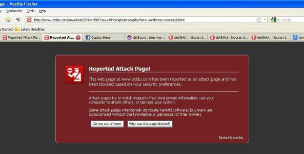 Reported Attack Page